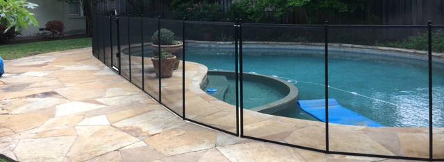 Black pool fence in Dallas
