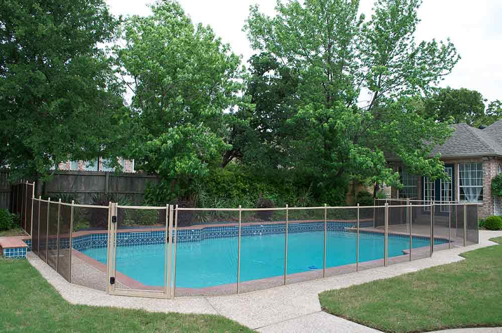 denton pool fence bronze