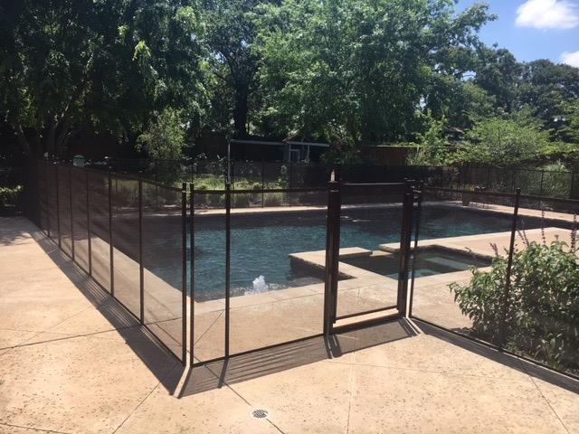 Black custom pool barrier in Denton, TX