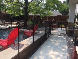 Bronze pool fence In The Lakewood area of Dallas