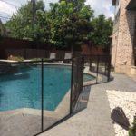 Bronze pool fence in Dallas, TX