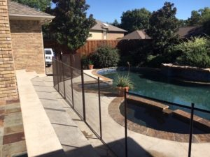 Bronze pool fence in the Lake Highlands area of Dallas