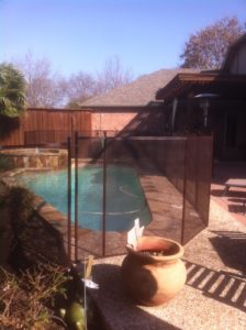 bronze pool safety fence