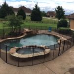 Black pool safety fence surround in Rockwall, TX