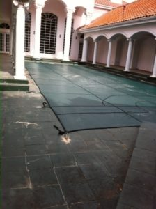 Pool Cover for a vacant home in Dallas