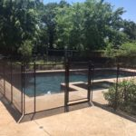 Black custom 4 foot tall pool fence in Denton TX