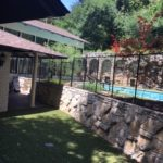 Black custom removable swimming pool fence in Fort Worth, TX