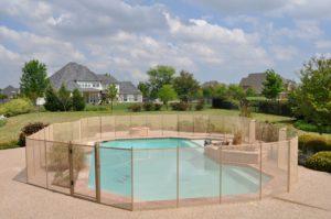 custom pool fence
