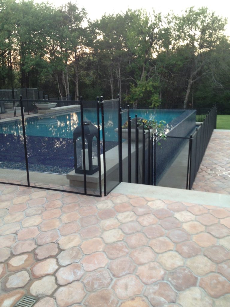 Black Pool Fence Photos